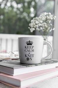 Bilde av Strikkekopp Keep Calm and Knit On