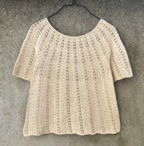 Bilde av Bregne Tee oppskrift Knitting for Olive