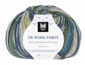 Bilde av SW Wool Forte 203 Marine, lime Dale garn