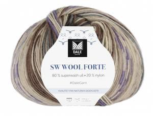 Bilde av SW Wool Forte 205 Brun, lilla Dale garn