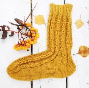 Bilde av Hveteaks sokker i kasjmir Gudrun Loennecken