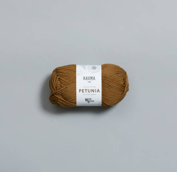 Petunia 320 Olivenolje Witre + Rauma garn