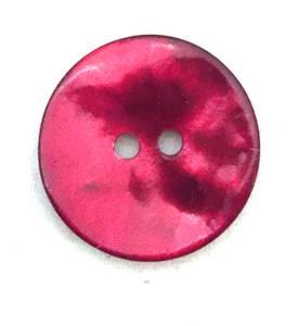Bilde av Knapp, 18 mm, rund perlemor burgunder