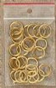 Bilde av Metallringer gull 24 stk