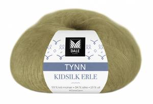 Bilde av Tynn Kidsilk Erle 4011 Lys oliven