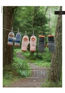Bilde av Kbs12 Smilestripe votten oppskrift Sandnes garn*