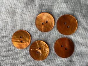 Bilde av Knapp, 20 mm rund, perlemor oransje