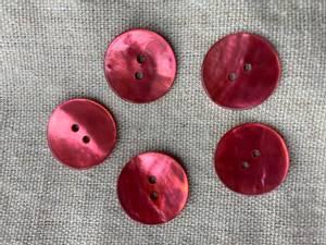 Bilde av Knapp, 20 mm rund, perlemor cerise