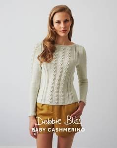 Bilde av DB114 Bobble Cable and Eyelet Sweater - Baby Cashmerino