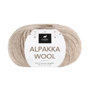 Bilde av DSA Alpakka Wool 505 Lys beigemelert garn