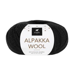 Bilde av DSA Alpakka Wool 526 Svart garn