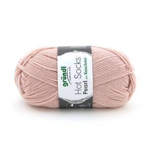 Bilde av Hot Socks Pearl med kasjmir 16 Lys rosa garn