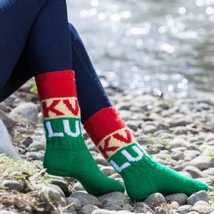 Bilde av Kvikk Lunsj sokker garnpakke