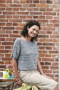Bilde av 898116 Scarlet print kortermet rille genser