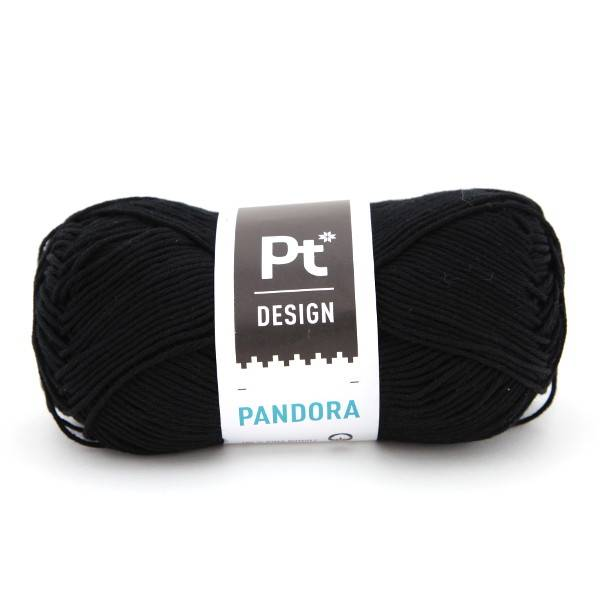 Pandora 299 Sort Pt design Rauma garn
