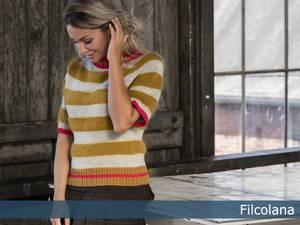 Bilde av Elmegade strikket t-skjorte Filcolana garnpakke