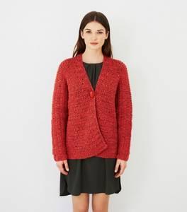 Bilde av DB041 Sideways knittet jacket - Paloma Tweed