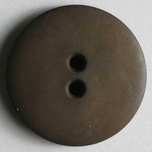 Bilde av Knapp, 15 mm, rund matt brun