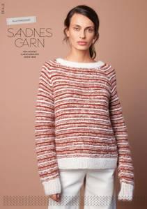 Bilde av 1914 8 Rillestripe-genser enkeltoppskrift Sandnes garn*