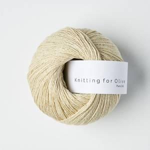 Bilde av Pure Silk Hvede Knitting for Olive