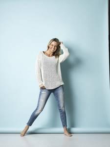 Bilde av 4300 Oversize genser med hullstrikk