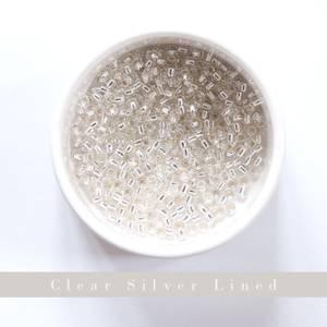 Bilde av Perler Yarntelier Clear Silver Lined Beads