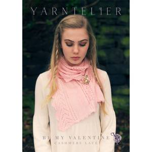 Bilde av Yarntelier Be my Valentine scarf Cashmere Lace