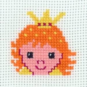 Bilde av My first kit Prinsesse 8 x 8 cm Broderi for barn Permin