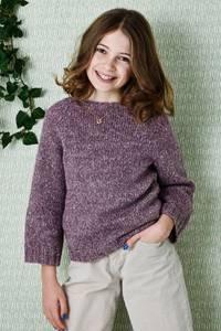 Bilde av 899110 Isabella Raglan genser til jente Permin oppskrift*