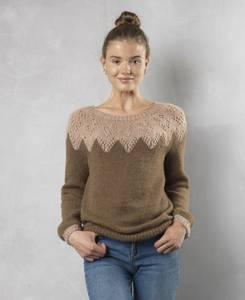 Bilde av 3835 Rundfelt genser dame i Tibet oppskrift*