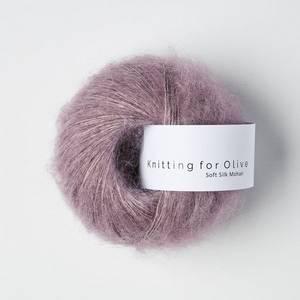 Bilde av Soft Silk Mohair Artiskoklilla Knitting for Olive