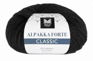 Bilde av Alpakka Forte Classic 501 Svart Dale garn