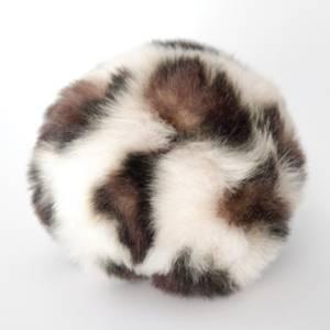 Bilde av Dusk i fuskepels trykknapp 8 cm - krem/brun/svart