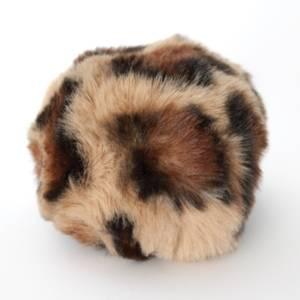 Bilde av Dusk i fuskepels trykknapp 8 cm - beige/brun/svart