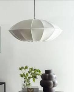 Bilde av UFO Lampeskjerm i råsilke hvit
