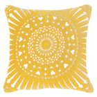 Mayan Sphere Yellow Lounge cushion 55x55cm