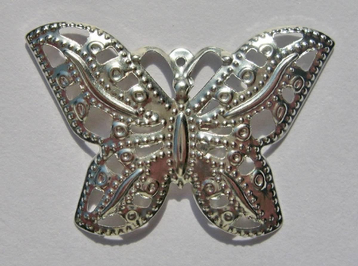 K&G; sommerfugl sølv