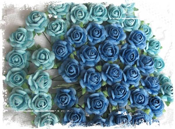 Bilde av Roser mellomblå 1,2 cm