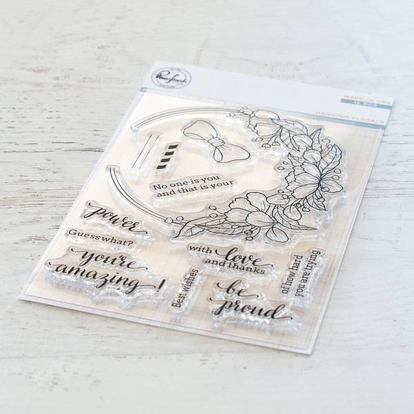 Bilde av Hanging florals stamp