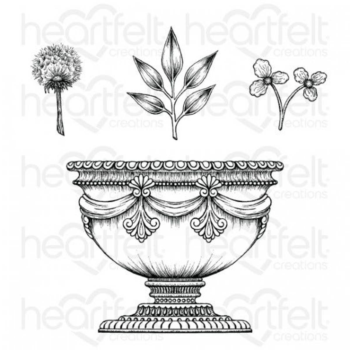 Floral Shoppe Large Floral Urn Stamp