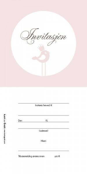 Bilde av K&G; Invitasjon rosa