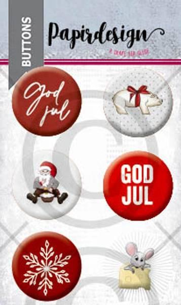 Bilde av Buttons: God jul 3