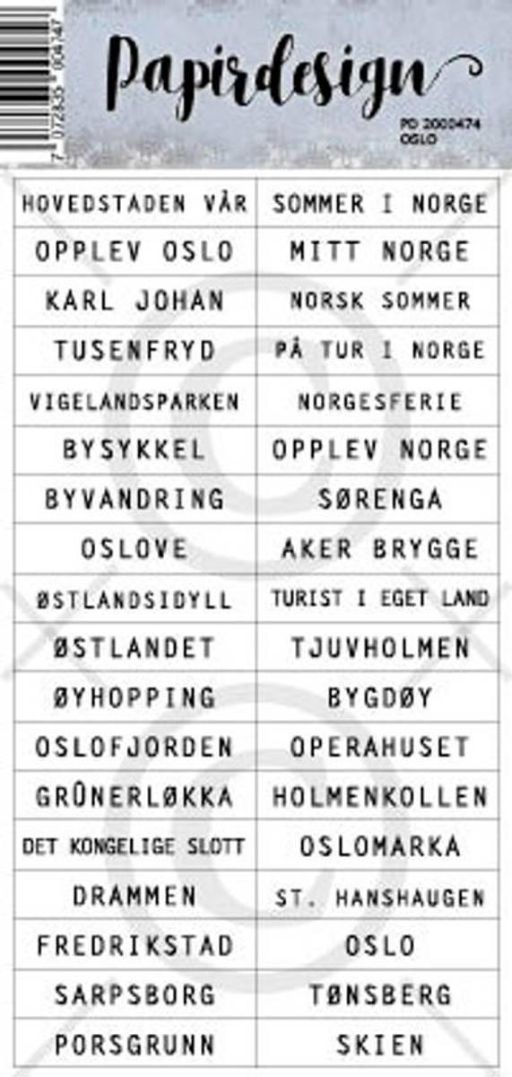 PD; Klistremerker, Oslo