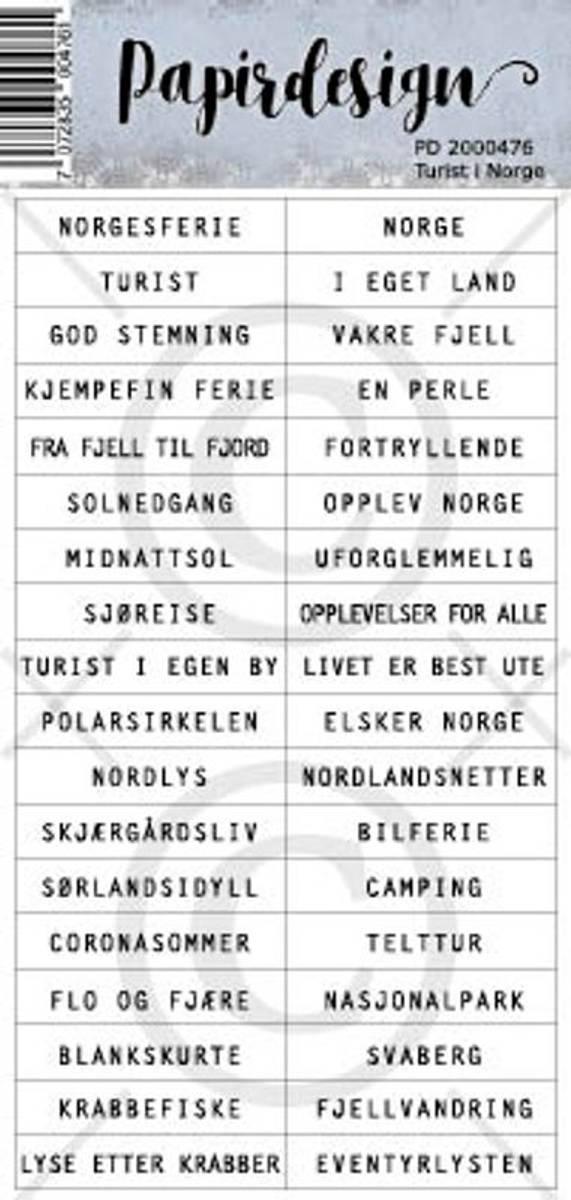 PD; Klistremerker, Turist i Norge