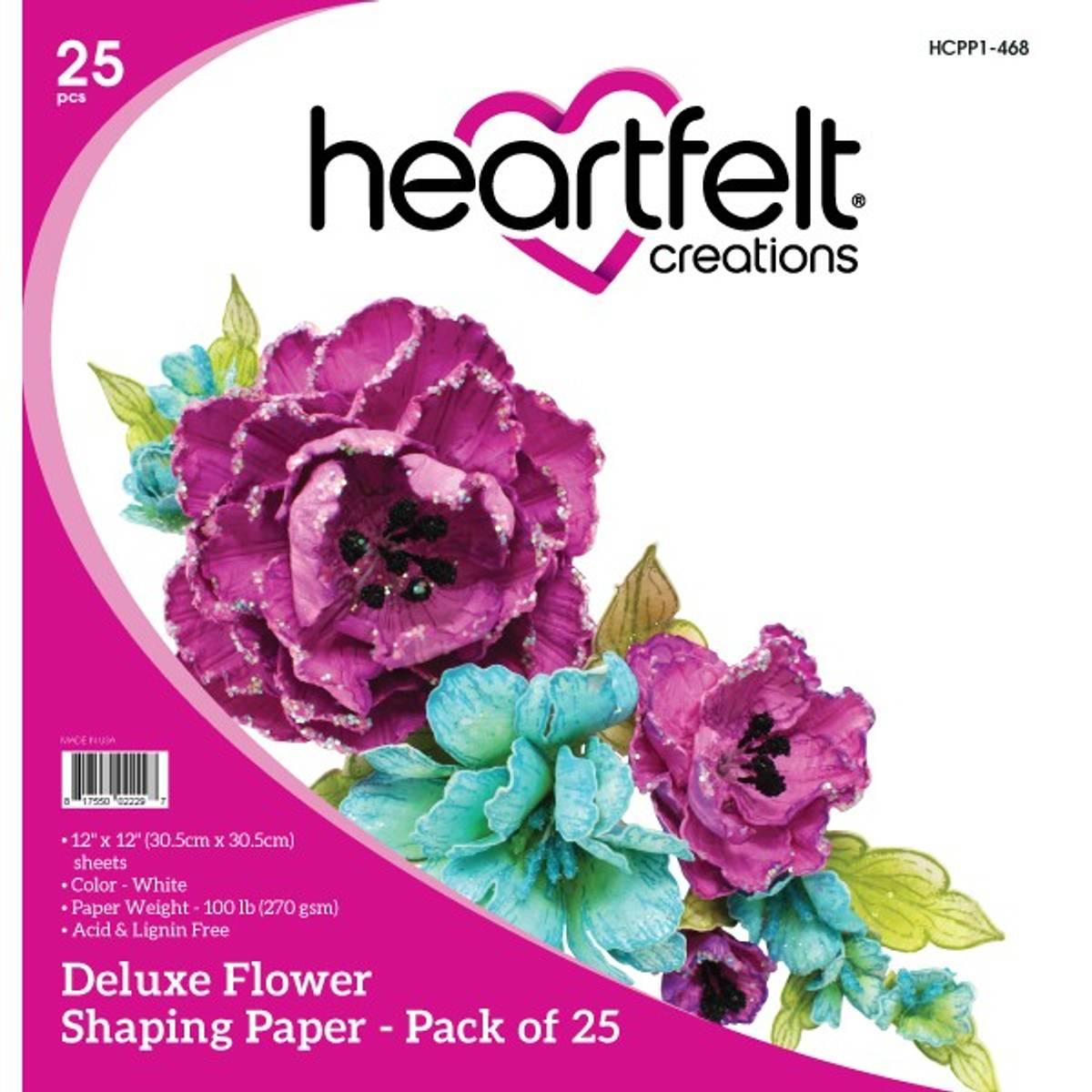 Deluxe Flower Shaping Paper - White