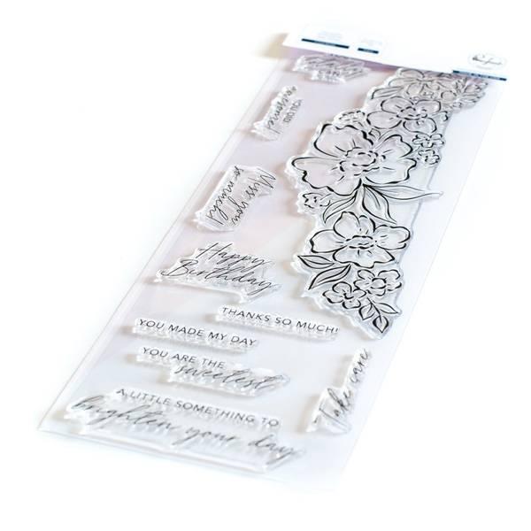 Bilde av Slim:Floral Notes stamp