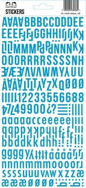 Bilde av PD; Alfabet, blå