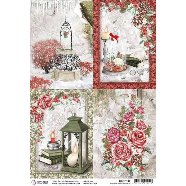 Bilde av Frozen Roses Rice Paper