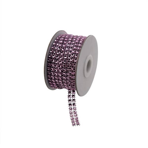 Bilde av Strassbånd 10mm lys rosa