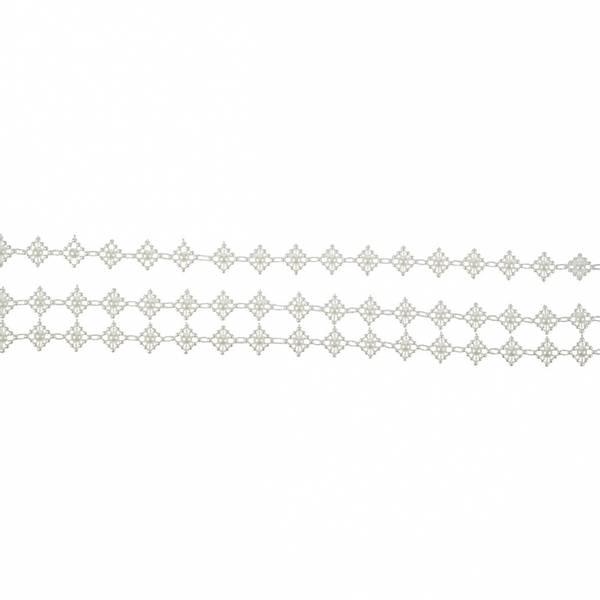 Bilde av Strassbånd hvit 2 rader